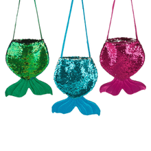 Reversible Sequin Mermaid Tail Kid's Bags (9 pc. ppk.)