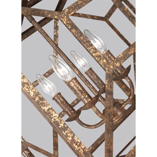 Marquelle Lantern Distressed Goldleaf
