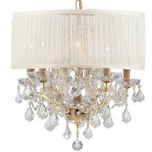 Brentwood 6 Light Crystal Gold Drum Mini Chandelier