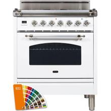 See Details - Nostalgie 30 Inch Gas Natural Gas Freestanding Range in Custom RAL Color with Chrome Trim