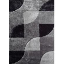 Vibrant Hand Tufted Modern Shag Lola 13 Area Rug by Rug Factory Plus - 5' x 7' / Gray Black