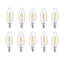 LED E12 CANDELABRA, BLUNT TIP, 2700K, 300 °, CRI80, ES, UL, 6W, 40W EQUIVALENT, 15000HRS, LM480, DIMMABLE, 2 YEARS WARRANTY, INPUT VOLTAGE 120V