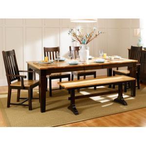 """A America - Two-tone Leg Table W/1-16"""" Leaf"""