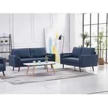 See Details - 8116 2PC NAVY Linen Stationary Living Room SET