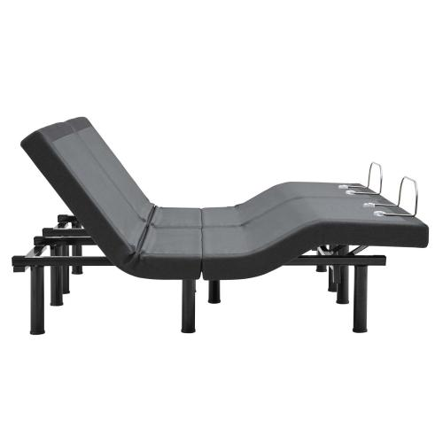 Transform Split Adjustable King Wireless Remote Bed Base in Gray
