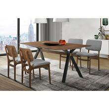 Laredo Lima 5 Piece Walnut Dining Set