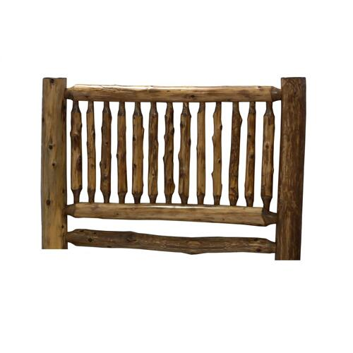 Small Spindle Headboard - Cal King - Natural Cedar