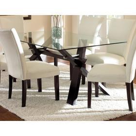 Berkley 72 inch Glass Top Table