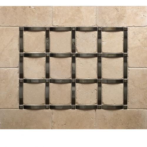 Grid - Backsplash White Bronze Dark