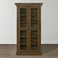 Emporium Smoked Oak Compass Tall Single Display Cabinet