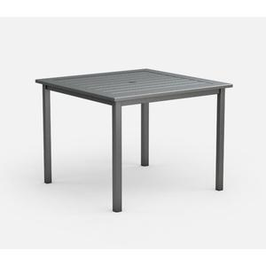 """45"""" Square Balcony Table (with Hole) Ht: 34.5"""" Post Aluminum Base (Model # Includes Both Top & Base)"""