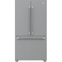 """See Details - 36"""" French Three-Door Stainless Steel Refrigerator with auto Ice Maker, Water Dispenser"""