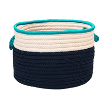 """In The Band Basket BN41 Navy & Turquoise 14"""" X 10"""""""