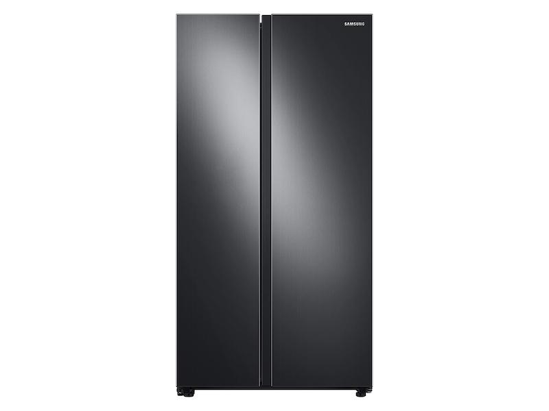 Samsung23 Cu. Ft. Smart Counter Depth Side-By-Side Refrigerator In Black Stainless Steel