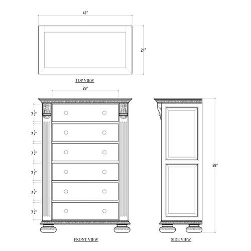 Charleston Tall Boy Dresser