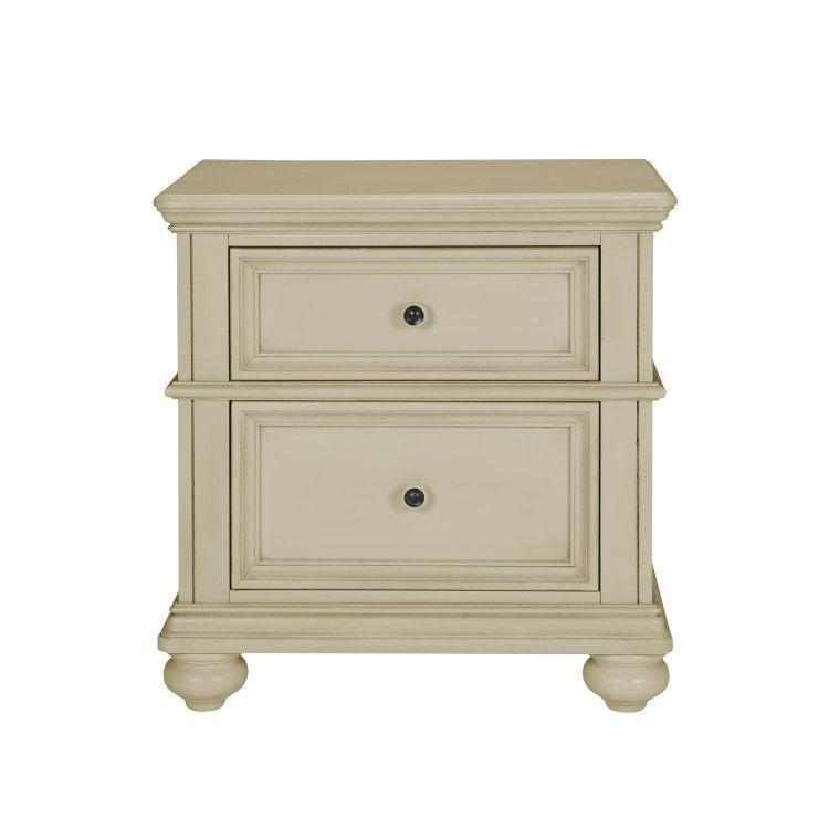 Chateau Nightstand, French Bisque Finish