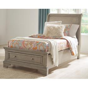 Lettner Twin Sleigh Bed Light Gray