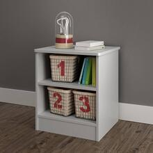 Nightstand with Open Storage - Soft Gray