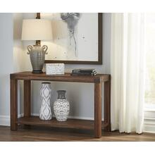 Meadow Console Table with Brick Brown Finish