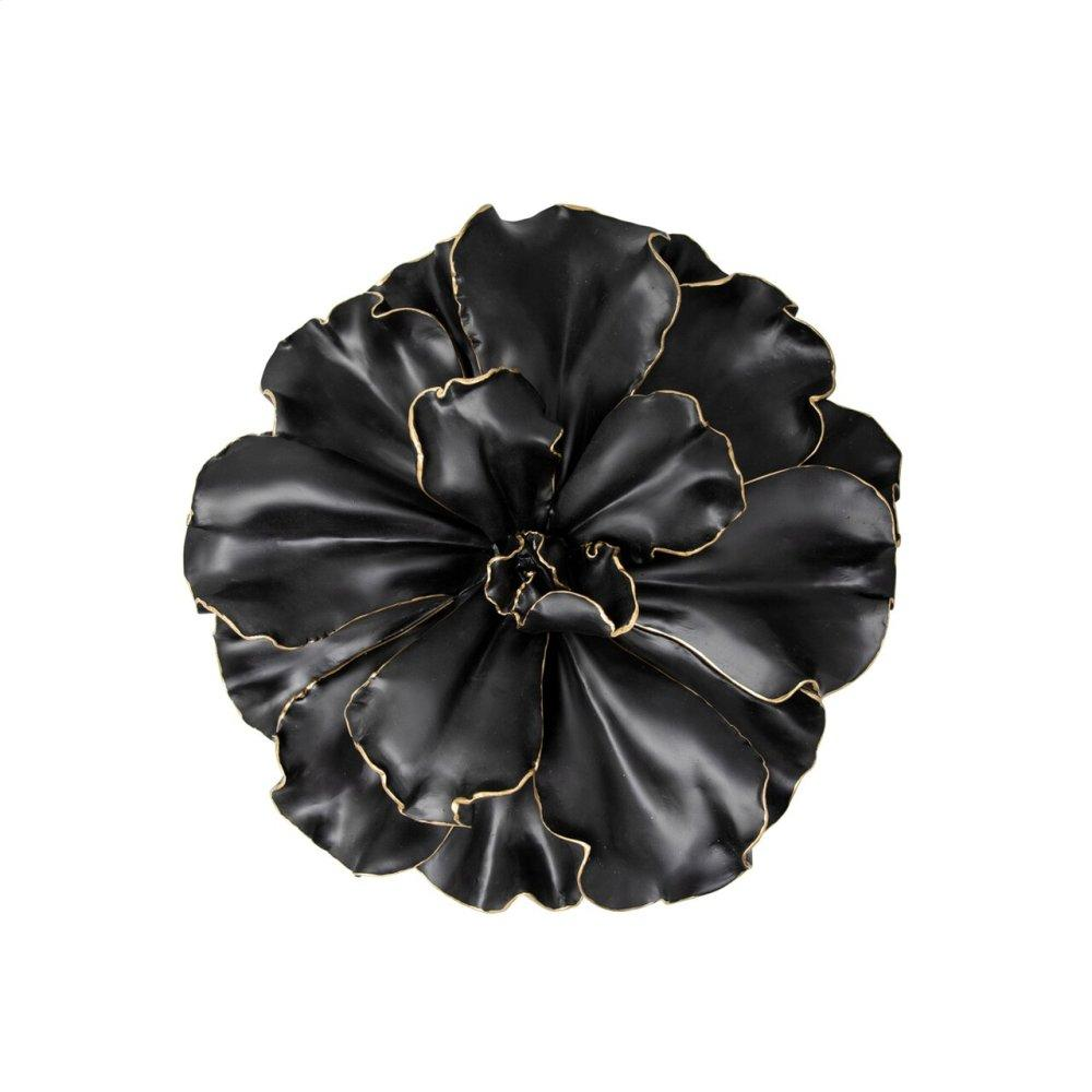 """See Details - Black\gold Wall Flower, 10"""""""
