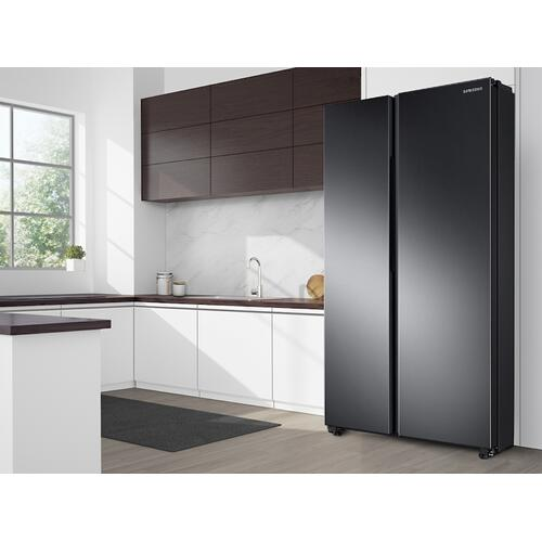 28 cu. ft. Smart Side-by-Side Refrigerator in Black Stainless Steel