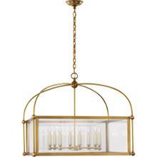 Visual Comfort CHC3453AB-CG E. F. Chapman Plantation 8 Light 29 inch Antique-Burnished Brass Lantern Pendant Ceiling Light, Wide Square