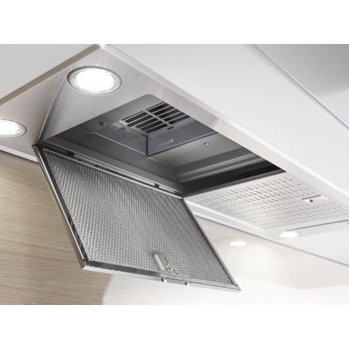 DA 2390 - Insert ventilation hood with energy-efficient LED lighting and backlit controls for easy use.