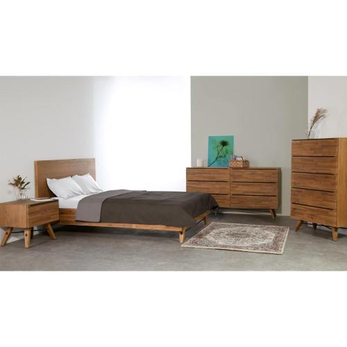 Dartford KD Dresser 6 Drawers, Acorn Brown