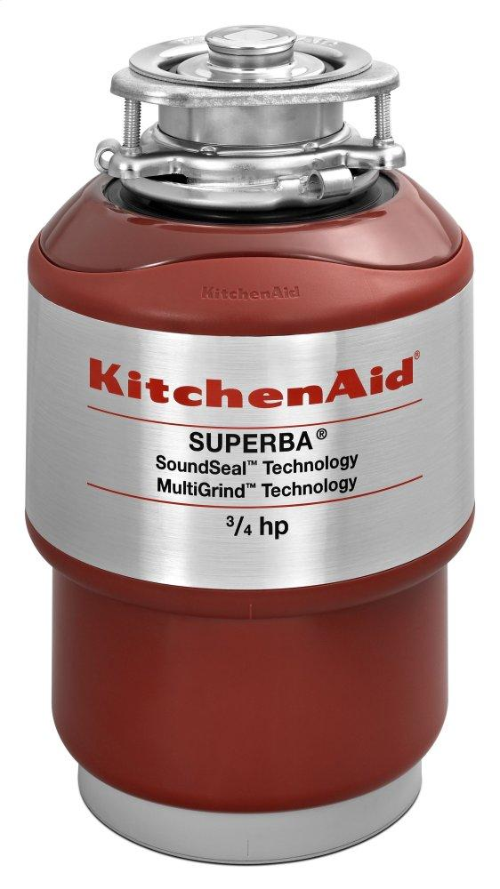 Kitchenaid3/4-Horsepower Continuous Feed Food Waste Disposer - Red