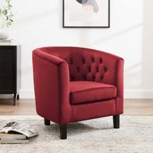 Prospect Performance Velvet Armchair in Maroon