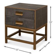 See Details - Shagreen Side Table, Antique Grey