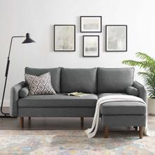 Revive Upholstered Right or Left Sectional Sofa in Gray