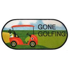 "Cozy Cabin Gone Golfing 20""x44"" Oval"