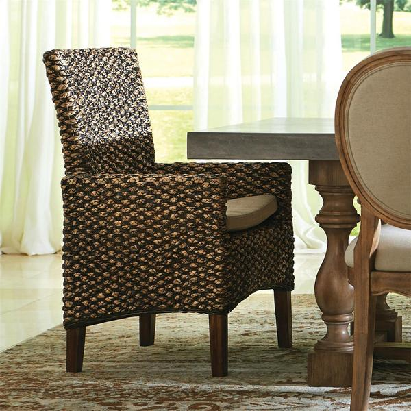 See Details - Mix-n-match Chairs - Woven Arm Chair - Hazelnut Finish