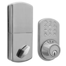 See Details - Touchpad Electronic Dead Bolt (Satin Nickel)