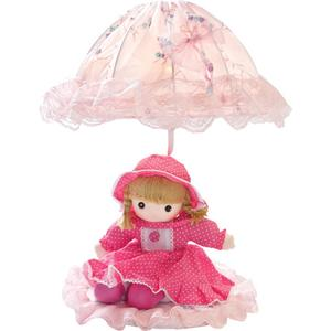Table Lamp - Pink Doll/laced Fabric Shade, E27 Type B 40w