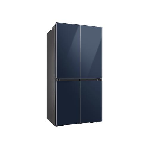 23 cu. ft. Smart Counter Depth BESPOKE 4-Door Flex™ Refrigerator with Customizable Panel Colors in Navy Glass