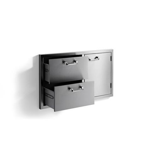 "Lynx - 36"" storage door & double drawer combo - Sedona by Lynx Series"