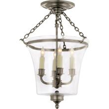 Visual Comfort CHC2209AN E. F. Chapman Sussex 4 Light 12 inch Antique Nickel Semi-Flush Ceiling Light