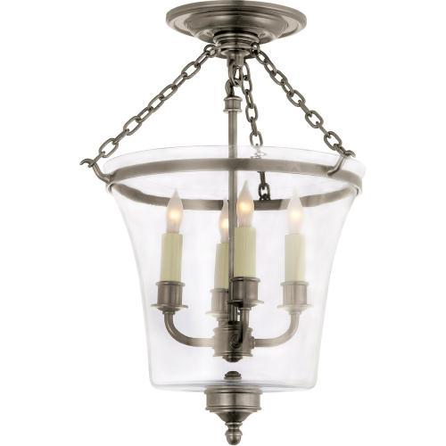 Visual Comfort CHC2209AN E. F. Chapman Sussex 4 Light 12 inch Antique Nickel Semi-Flush Ceiling Light