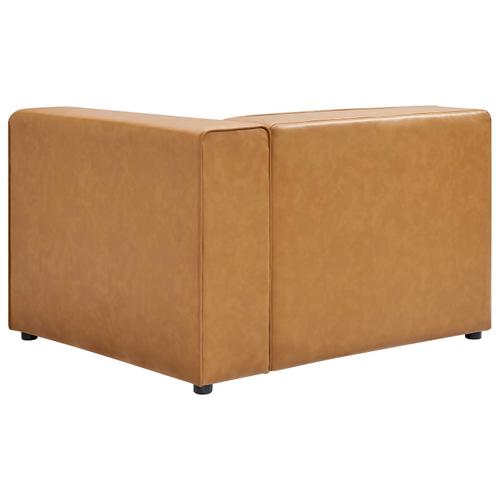 Modway - Mingle Vegan Leather Right-Arm Chair in Tan