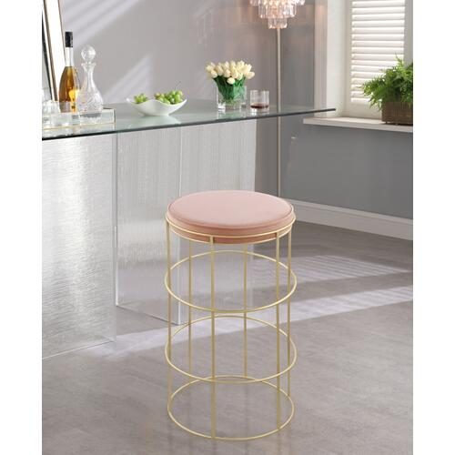 "Rebar Velvet Counter Stool - 14"" W x 14"" D x 26.5"" H"