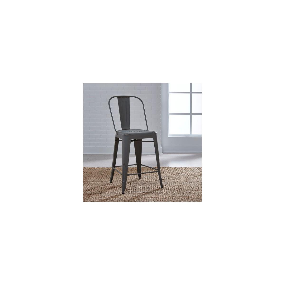 Bow Back Counter Chair - Grey (RTA)