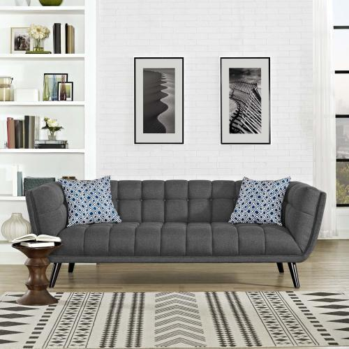 Modway - Bestow Upholstered Fabric Sofa in Gray