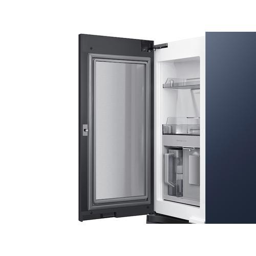 23 cu. ft. Smart Counter Depth BESPOKE 4-Door Flex™ Refrigerator with Customizable Panel Colors in Navy Steel