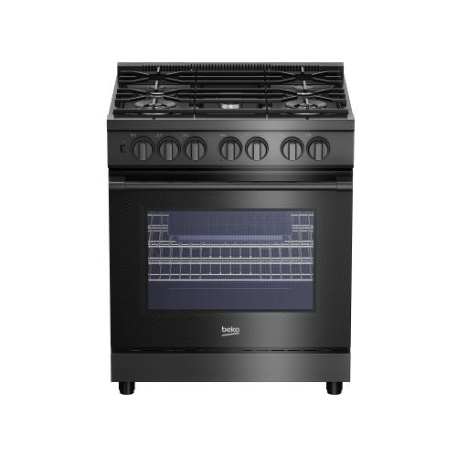 """30"""" Carbon Fiber Pro-Style Dual Fuel Range"""