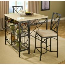 4402TK  Kitchen Island with 2 Barstools