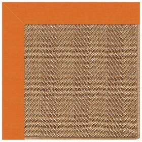 Islamorada-Herringbone Canvas Tangerine