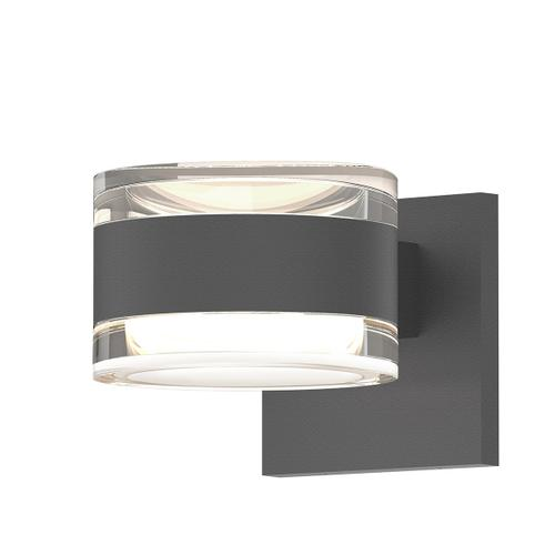 Sonneman - A Way of Light - REALS® Up/Down LED Sconce [Color/Finish=Textured Gray, Lens Type=Clear Cylinder Lenses]