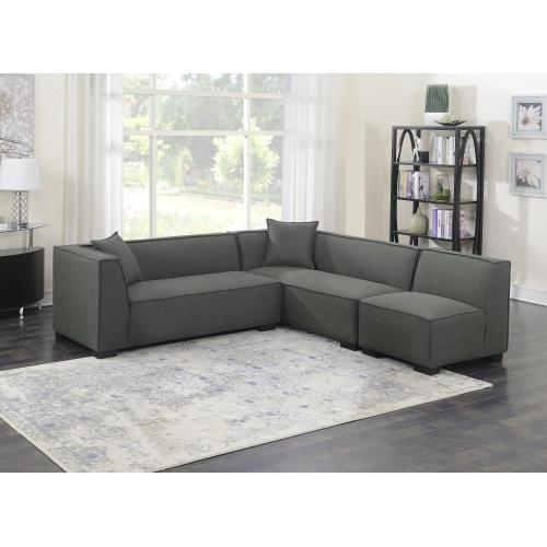 Emerald Home Lonnie Modular Sectional Cinder Gray U4331-03-3pcset-k
